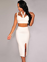 Women'sSexy Halter Neck Sleeveless Skirt Set