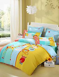LOVO KIDS Animal Cute Heights 100% Cotton 300-Thread-Count Bedding Sheet Set
