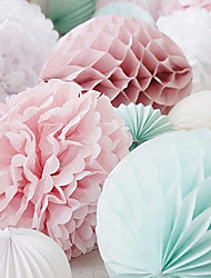 4 pcs 10 Inch (25cm)  Honeycomb Tissue Paper Flower Ball for Wedding Party Decoration(More Colors)