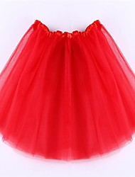 Girl's All Seasons  Holiday Style Gauze Skirt  (Gauze/Others)