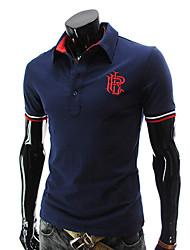 T-Shirts ( Algodão ) MEN - Casual Manga Curta