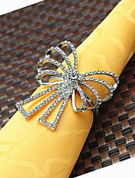 6Pcs Diamond Butterfly Napkin Rings