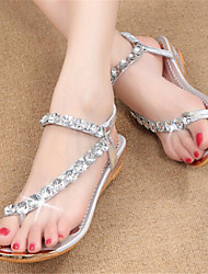 S-Shoes Women's Shoes Gold/Silver Wedge Heel 0-3cm Sandals (PU)