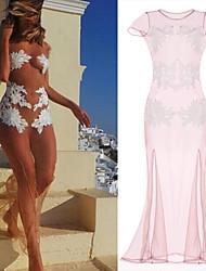 Vita Women's Beach/Casual/Party Dresses (Mesh)