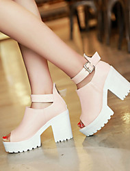Women's Shoes Chunky Heel Peep Toe Pumps Dress Shoes More Colors Available