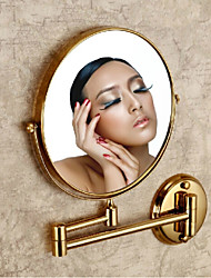 Gold Painting Solid Brass Material Mirrors