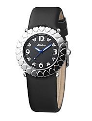 Women's fashion design  leather strap quartz watches DC-51005