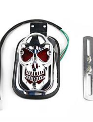 Skull Tail Light License Plate Bracket for Harley Motorcycle