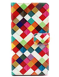 Pour Coque Sony / Xperia Z3 Porte Carte / Portefeuille / Avec Support / Clapet Coque Coque Intégrale Coque Forme Géométrique Dur Cuir PU