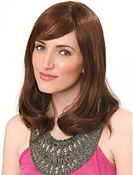 Brown Color Medium  Syntheic Wave  Wig
