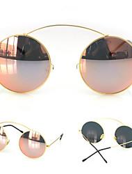 Moda óculos escuros espelhados 100% UV400 das mulheres