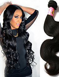 "3 Pcs/Lot 8""-34"" Brazilian Unprocessed Virgin Human Hair Natural Black Color Body Wave Hair Weft.Free Shipping!"