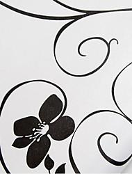 papel de parede branco para casa com a parede de flores pretas cobrindo pvc sticker art parede