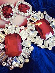 Drop Earrings Gemstone Simulated Diamond Luxury Jewelry White Black Red Green Blue Jewelry