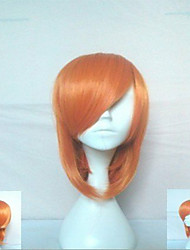 Cosplay Wig  Blonde Middle Long Straight  Hair Animated SyntheticWigs Cartoon Wig