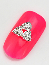 2015 Fashion 10PCS RG041 Luxury Zircon 3D Alloy Nail art Decoration Diamond Nail Salon Supplier DIY Accessories