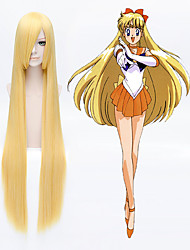 Panty & Stocking with Garterbelt Panty 100CM Long Straight golden yellow Full Hair cosplay wig