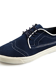 Men's Shoes Casual Leather Oxfords Black/Blue/Gray