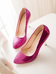 Women's Shoes Glitter Stiletto Heel Heels/Pointed Toe Pumps/Heels Dress Gold/Burgundy