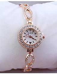 or de la mode la montre à quartz creux des femmes
