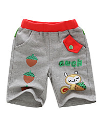 BOY'S 100% cotton embroidery shorts in summer