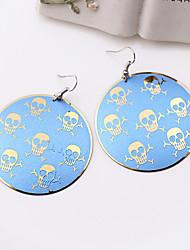 Fashion Beautiful Cute Skull Alloy Drop Earrings