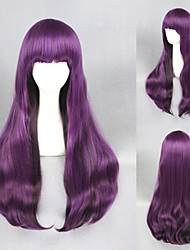 30inch  Long Straight Purple Synthetic Beautiful Lolita wig