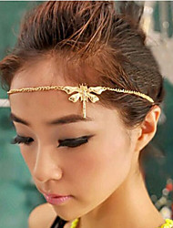 Lucky Star Women's Elegant Rhinestone Dragonfly Hair Chain