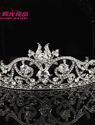 Neoglory Jewelry Austrian Rhinestone Charming Flower Tiara Crown Accessories for Lady/Bridal/Wedding