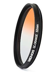 MENGS® 52mm Graduated ORANGE Filter For Canon Nikon Sony Fuji Pentax Olympus Etc Camera