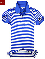 John cabot 2015 brand Fashion Polo shirt Stripes logo men short sleeve casual dress world famous Man's Polo shirts