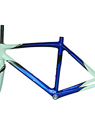 Neasty Brand 700C Full Carbon Fiber Frame and Fork 12K Blue White Color bicycle frame 52/54/56CM 18C-23C Tire