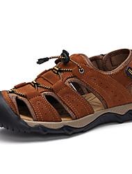 Zapatos de Hombre Casual Pelo de Ternero Sandalias Marrón/Negro/Caqui
