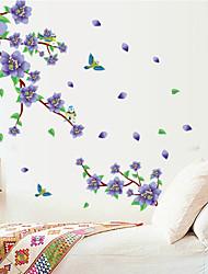 Natural Purple Plum Blossom PVC Wall Stickers Wall Art Decals