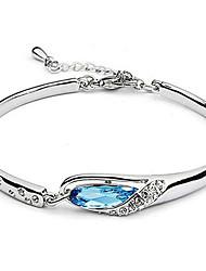 MEGEGE Women's Simple Crystal Bracelet