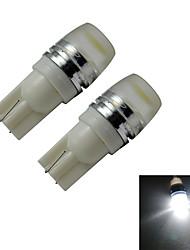 Luces Decorativas T10 1 LED de Alta Potencia 90lm LM Blanco Fresco DC 12 V 2 piezas