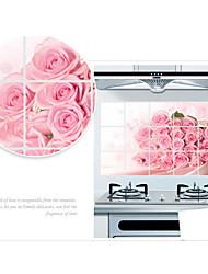adesivos de parede adesivos de parede, flores cor de rosa de parede pvc etiquetas
