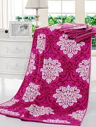 Yuxin® Colourful Blankets Fashion Blankets Soft and Comfortable 100% Cotton Blue/Pink/Red W59*L79 Inch
