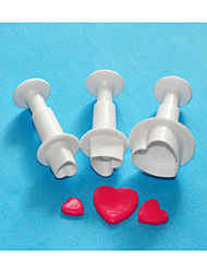 cuatro c conjunto cortador del émbolo de la torta dulce corazón decoración, torta cortadores de diseño, equipo torta clásica /