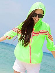 Women's Casual Protective Clothing Long Sleeve Regular Blouse (Chiffon)