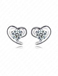 Women' Sterling Silver Earrings with Zircon CZ0004E