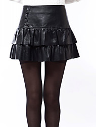 Womens Genuine Leather Pencil Skirt