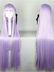 Wonderful Super Long Kniting  Purple Cosplay Wig with Weaving Ponytail Synthetic Hair Wigs Natural Animated  Party Wigs