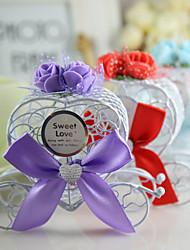 coffret cadeau assortiment de fer de couleur art carriag de mariage de boîte de bonbons, 12x8x3.5cm