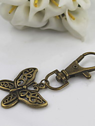 Fashion Unisex Retro Alloy Hollow Out Butterfly Pendant Keychains