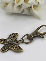мода унисекс ретро сплав выдалбливают бабочки кулон брелки