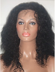 Free Shipping!! Wholesale Natural Hair Line Virgin Brazilian Hair Front Lace Wig Afro Kinky Curl Glueless Full Lace Wig