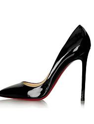 Stiletto Damenschuhe - Pumps/Heels Schwarz/Blau/Rot/Mandelfarben )