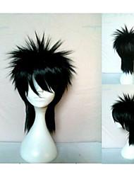 dibujo animado de la peluca cosplay sintética del pelo ondulado natural negro de la muchacha pelucas animada nueva del hombre con estilo