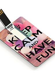 4gb houd kalm en plezier hebben het ontwerp-kaart usb flash drive